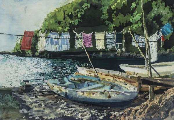 Muffy Clark Gill, Wash Day: St. Lucia