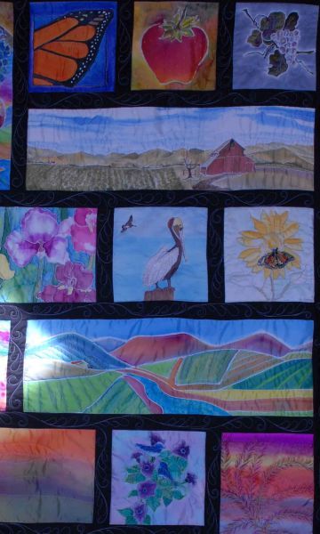 Chapter Quilt 2014, Silk Artists California Central Coast