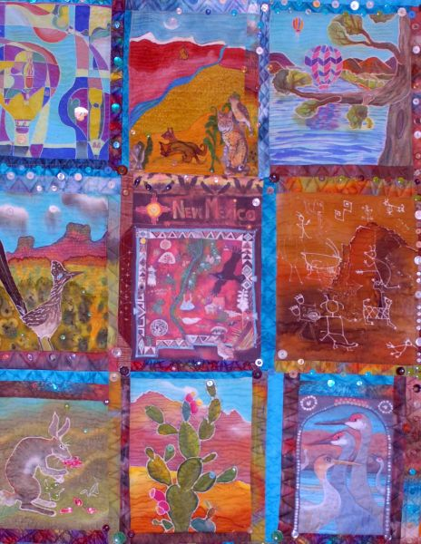 Chapter Quilt 2014, New Mexico Silk Painters Guild
