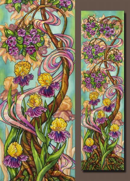 Serge Nepomnin, Blooming Tree and Irises